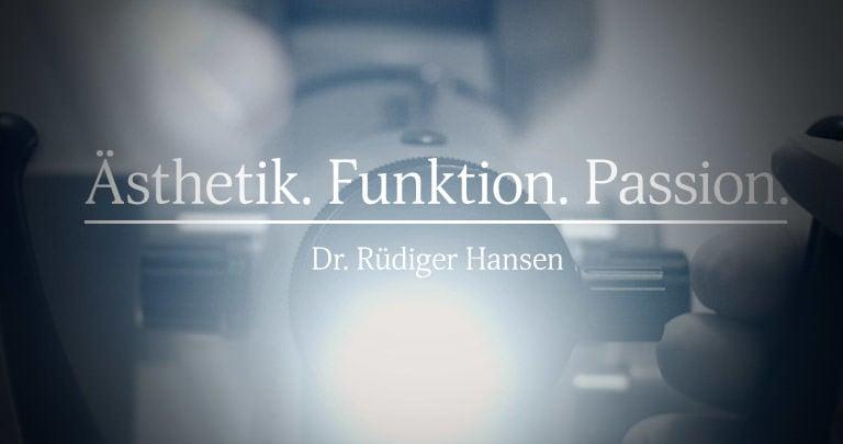 Praxisfilm »Ästhetik. Funktion. Passion.« / Dr. Rüdiger Hansen, Zahnarzt München