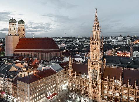 Die Zahnarztpraxis Dr. Rüdiger Hansen liegt in der Nähe des Marienplatzes im Zentrum Münchens.